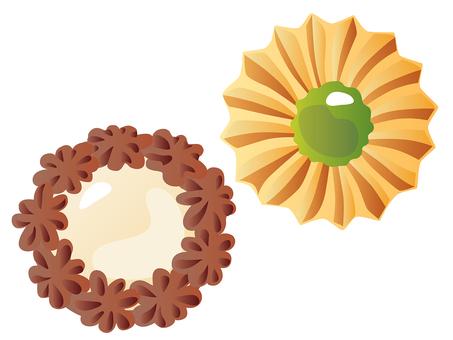 꽃 모양 쿠키 _ 화이트 초콜릿 잼