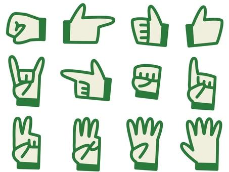 Hand icon green