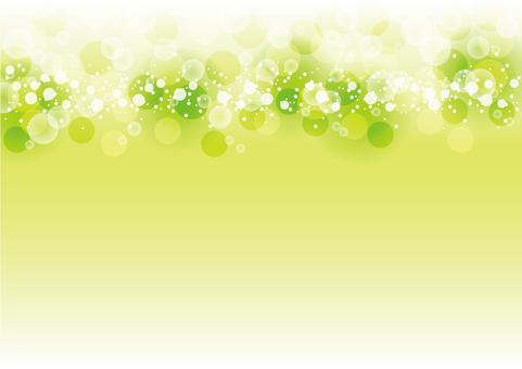 Full circle of fresh green sparkle No light emission