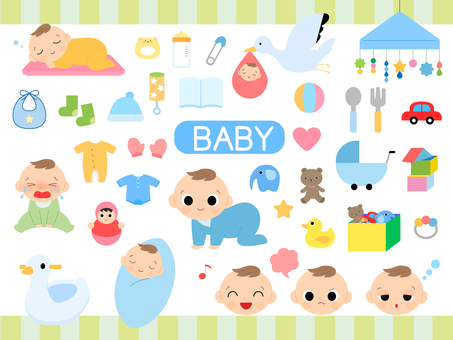Baby's illustration set