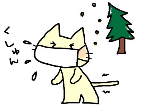 고양이에 꽃가루 (신 っ)