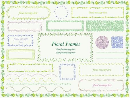 Delicate flower frame set 2