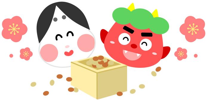 Aka and mumps bean maki (without main line)