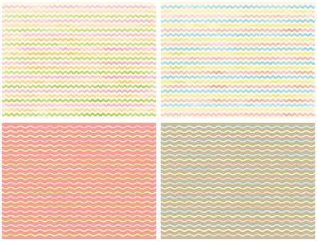 Four types of watercolor touch waves