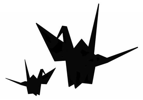 Folding crane silhouette