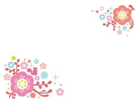 팝 꽃 프레임