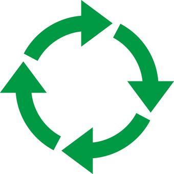 Rotating arrow_green