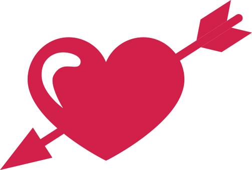 An arrowed heart