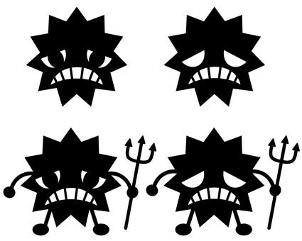Weak virus silhouette