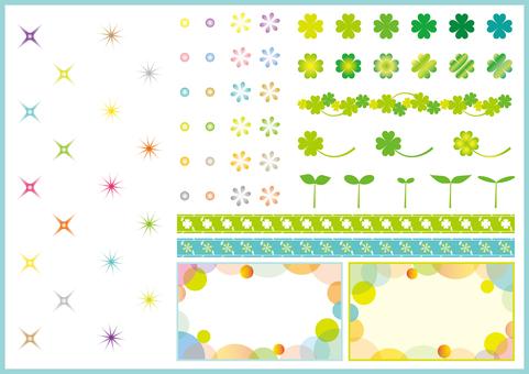 Glitter and botanical pattern 1