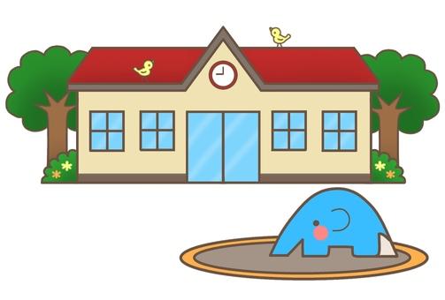 Nursery school / kindergarten (red roof) 1