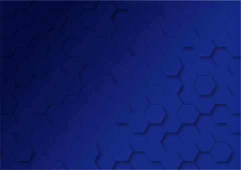 Navy Hexagon Digital Geometric Pattern Background Material