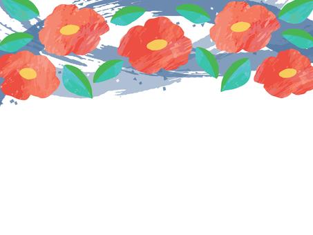 수채화 風椿 프레임