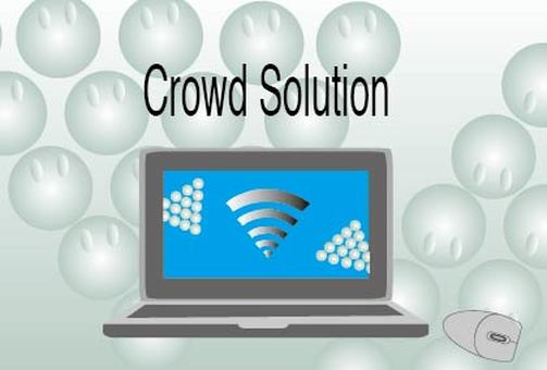 Advertisement banner for crowdsourcing