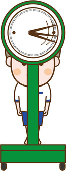 Weight measurement Front boy 2
