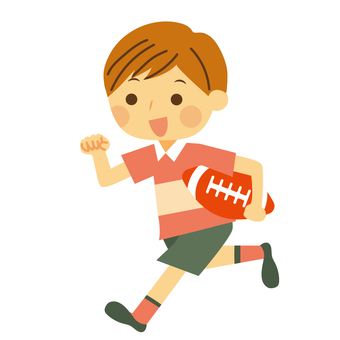 Rugby boy playing rugby