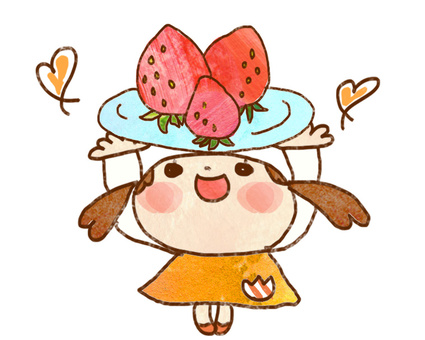 딸기와 소녀