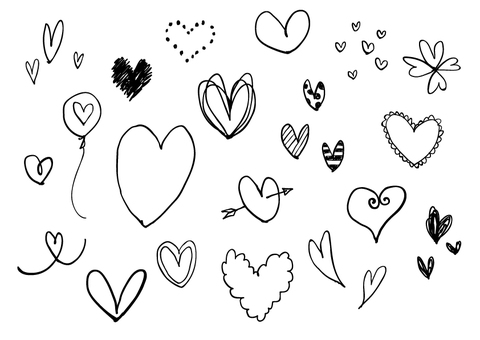 Heart / hand-drawn style