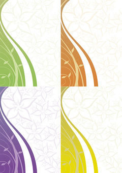 Background design / flower pattern set 2