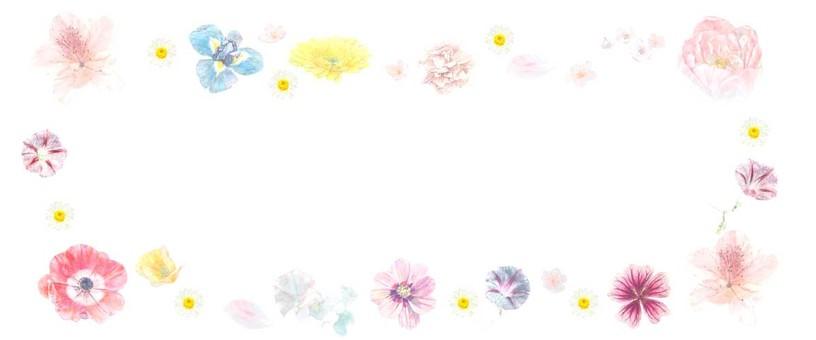 [필기 · 도표] 꽃 테두리 프레임