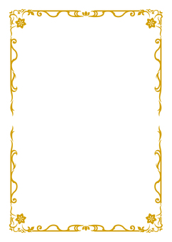 Asian-style frame 4 (gold tea)