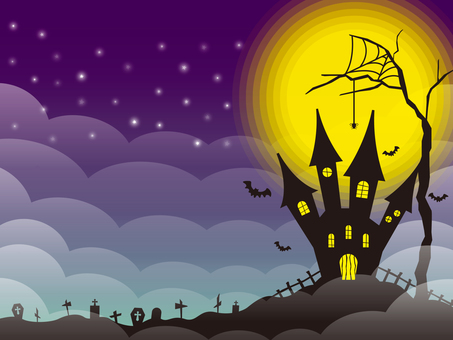 Halloween image 004 deep purple
