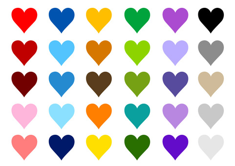 Heart color variation