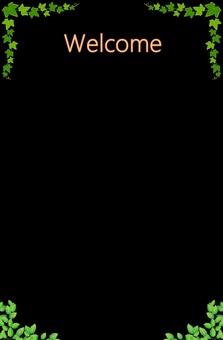 Welcome board (Ivy & Leaf)