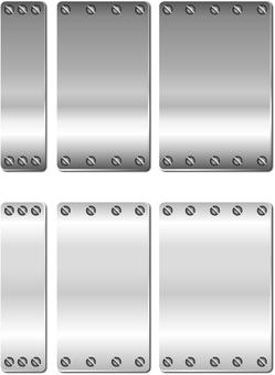 Steel plate longitudinal frame set 1