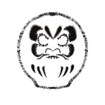 Black and white daruma