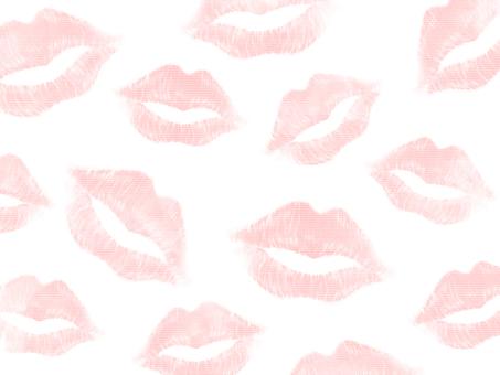 Kiss mark background (single color)