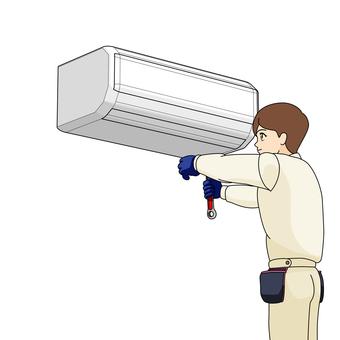 空調交換承包商,安裝工作