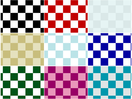 ai Japanese pattern Pattern checkered background 9 sets