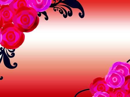 Pink rose frame wallpaper