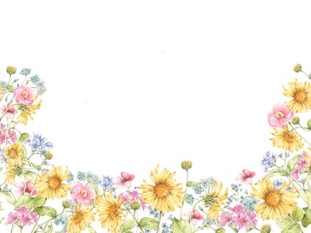 Flower frame 111 - flower frame of small flowers in veranda