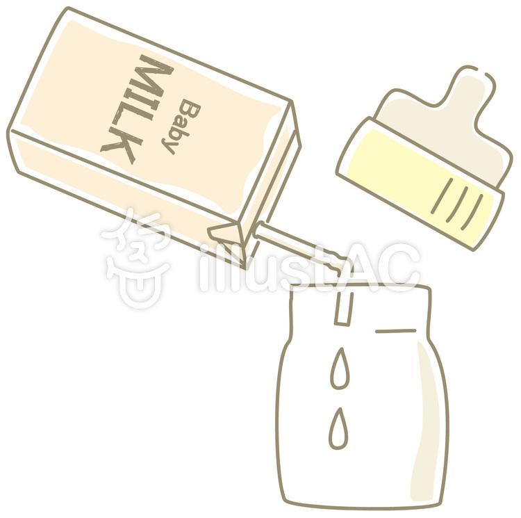 液体ミルクを哺乳瓶に注ぐイメージ