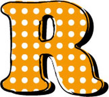 Dotted alphabet R