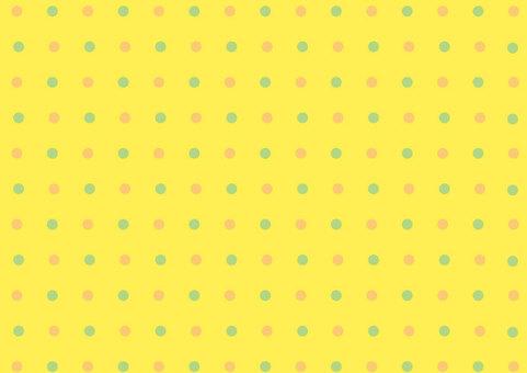 Yellow and polka dot wallpaper