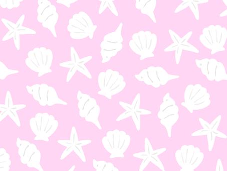 Shell wallpaper pink