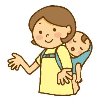 Mommy and baby (お ん ぶ の ね ね ♪)