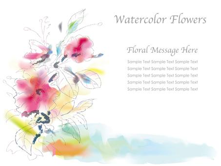 Watercolor-like flower background 1