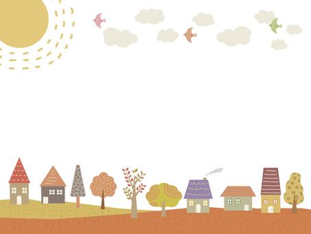秋風景フレーム 背景