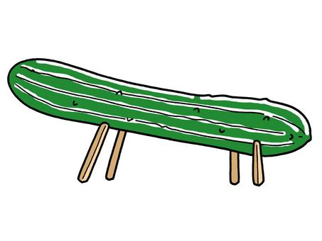 Cucumber horse