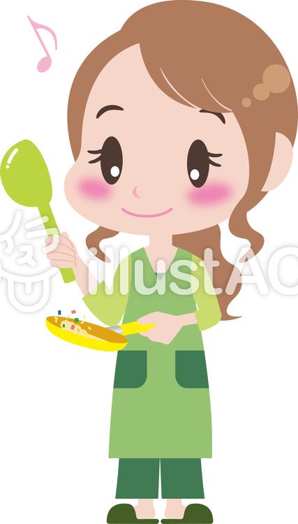 料理する女性イラスト No 854333無料イラストならイラストac