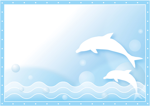 Dolphin background across the sea