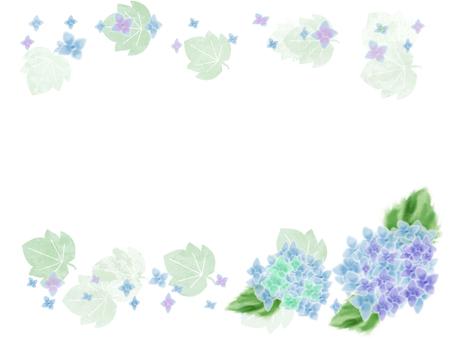 花フレーム 19(紫陽花)