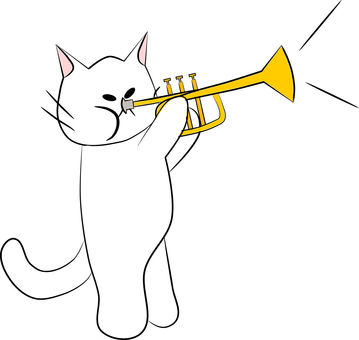 Nyanko管樂器。喇叭