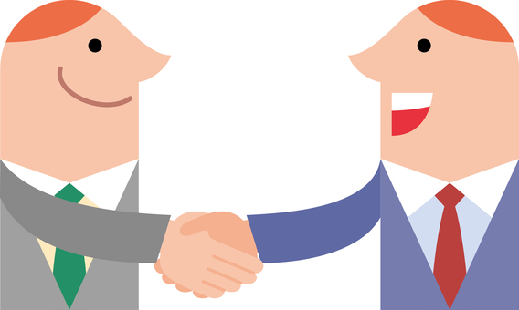 Business, profile, handshake