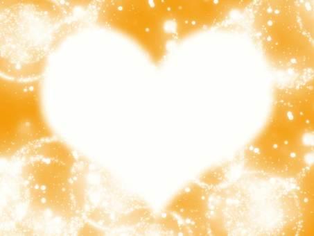 Orange shining heart
