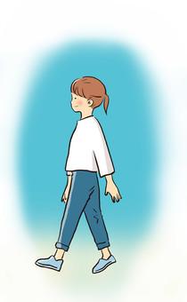 걷는 여자 1